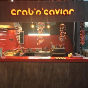 Вывеска Crab'n'caviar