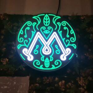 Световой логотип МЯТА LOUNGE